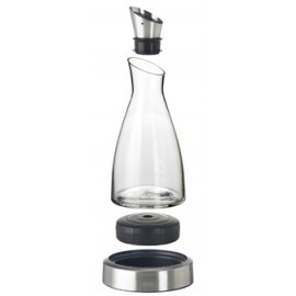 Carafe en verre et socle refrigérant