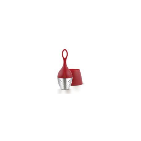 Boule à thé flottante rouge