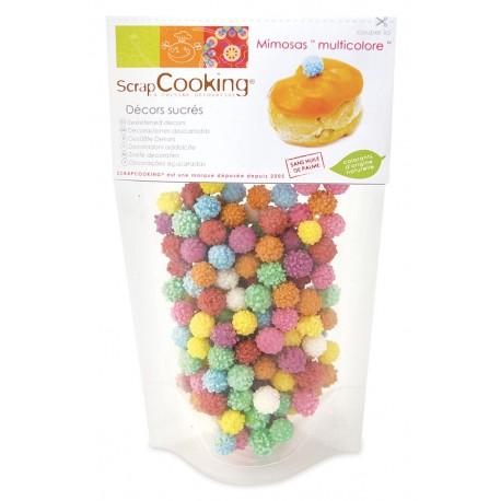 Sachet décors sucrés Mimosas multicolores ScrapCooking