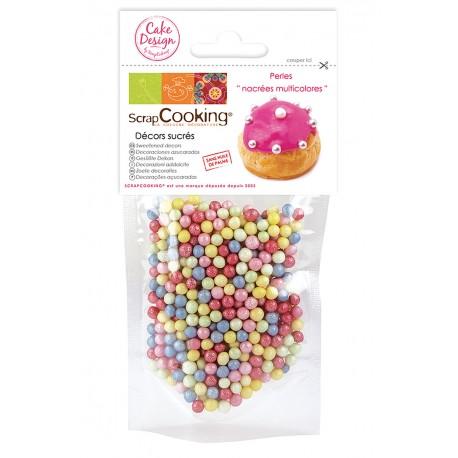 Sachet décors sucrés perles multicolores ScrapCooking