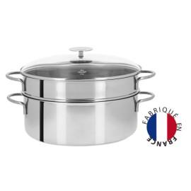 Elément cuit vapeur supplémentaire ovale perforé Cristel